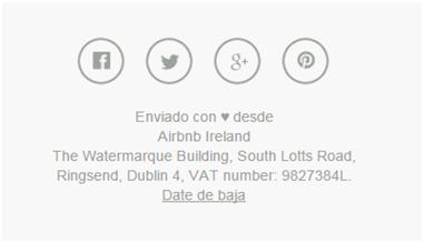 Ventajas del email marketing Ejemplo Airbnb