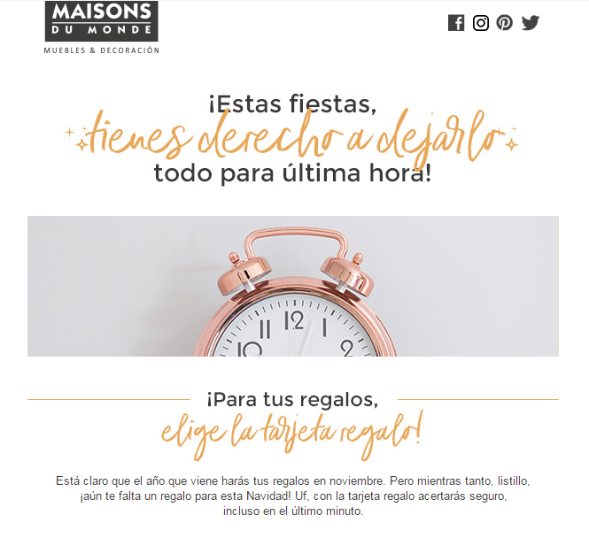 maison-du-monde-email-marketing-navidad-valores