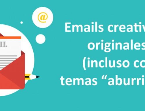 Cómo escribir un email original y creativo (incluso con temas «aburridos»)