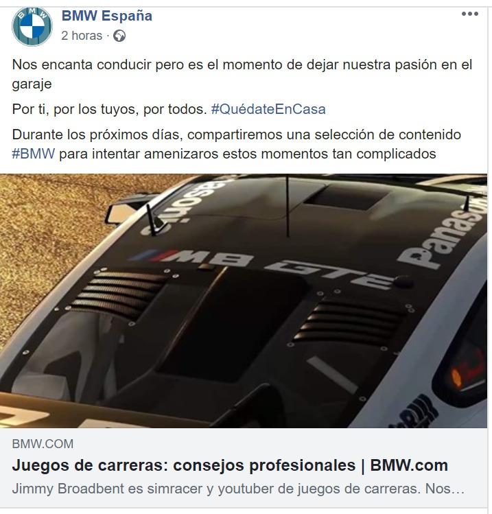BMW crisis sanitaria