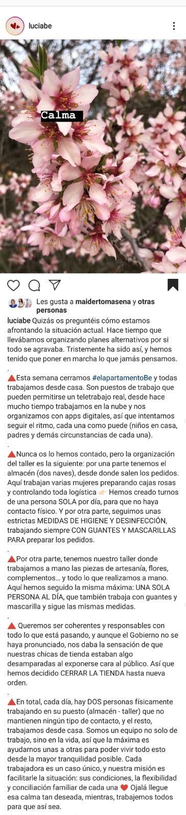 LuciaBe crisis sanitaria