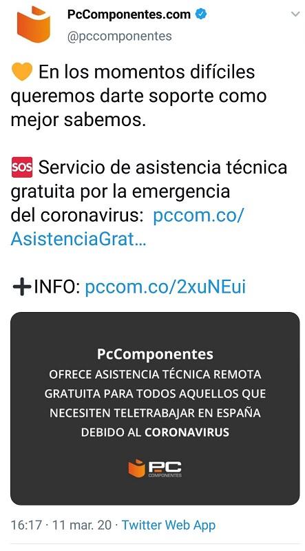 PCComponentes crisis sanitaria