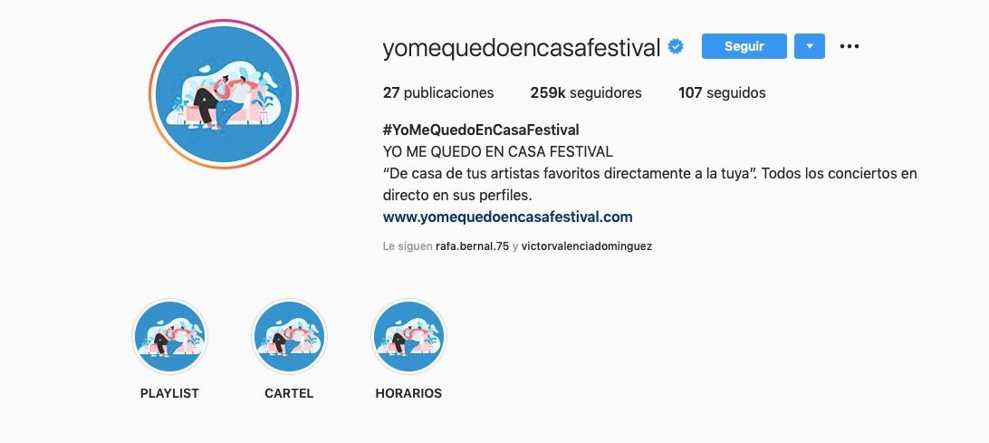 yomequedoencasafestival crisis sanitaria